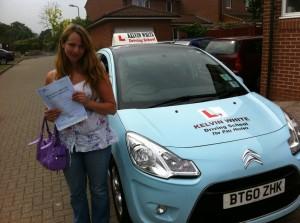 Driving test success for Zara Kincaid of Cannington